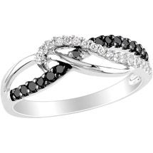 Walmart: 1/4 Carat T.W. Black and White Diamond Sterling Silver Fashion Ring