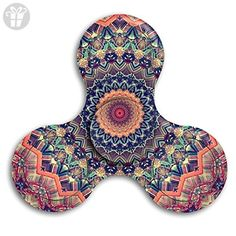 Tie Die Floral Mandala Tri-Spinner Fidget Hand Spinner Stress Reducer Toy Anxiety Stress Relief Fidget Spinner For Kids And Adult - Fidget spinner (*Amazon Partner-Link)