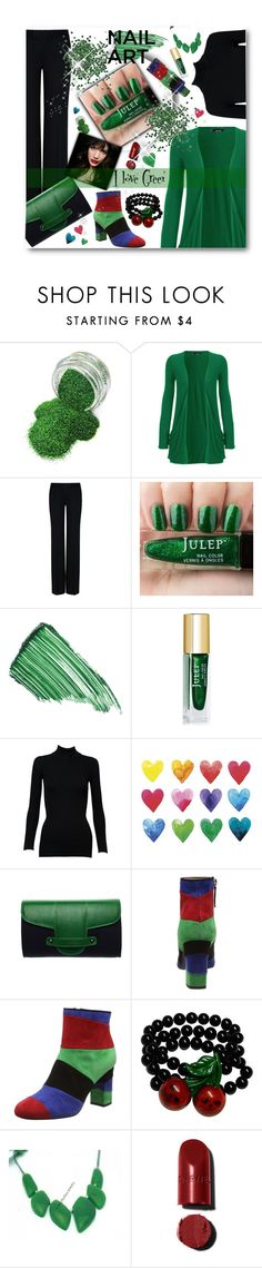"""If I had a Green Lacquer..."" by pomy22 ❤ liked on Polyvore featuring beauty, WearAll, STELLA McCARTNEY, By Terry, Alaïa, WALL, Emeline Coates, Boutique Moschino, IVI and Kreepsville 666"