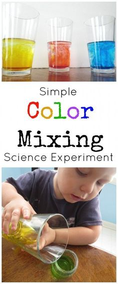 No need to make things complicated! Preschoolers will love this simple color mixing science experiment! Fun and educational!