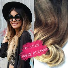 Hot Queen Brown&Blonde Ombre Human Hair Extensions 7pcs/Set 70 g 5A Brazilian Wavy Remy Clip In Human Hair Extensions In Stock //Price: $54.72 & FREE Shipping //     #hairextension #style #beauty #woman #love