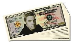 Elvis Presley Novelty Million Dollar Bill - 25 Count with Bonus Clear Protector and Christopher Columbus Bill * You can find more details by visiting the image link.