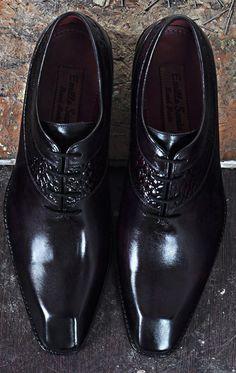 Model BATU-P Beautiful handmade leather shoes for men http://emillosanto.com/men-shoes.html