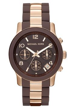 ...Of course....Michael Kors 'Silicone Runway' Rose Gold Chronograph Watch available at #Nordstrom