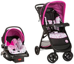 Bring a little magic to your strolls with the #Disney Baby Amble Quad Travel System featuring the onboard22 Infant Car Seat. With a stay-in-car base and lightwei...