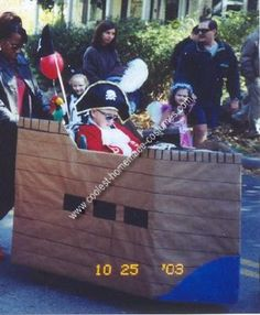 Pirate in a Ship Halloween Wheelchair Costume