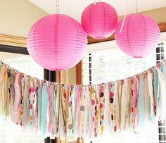brides of adelaide magazine - wedding decor- DIY - fabric garland Visit & Like our Facebook page! https://www.facebook.com/pages/Rustic-Farmhouse-Decor/636679889706127
