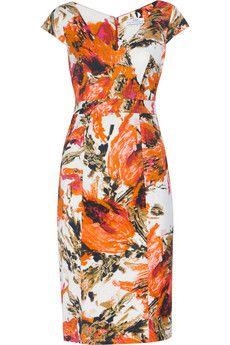 Erdem Tanya floral-print stretch-twill dress | THE OUTNET