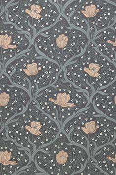 Lena | Floral wallpaper | Wallpaper patterns | Wallpaper from the 70s Gold Wallpaper, Flower Wallpaper, Pattern Wallpaper, Fabric Textures, Fabric Patterns, Motif Floral, Floral Prints, Textile Prints, Textiles