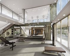 Home Gym Design, At Home Gym, New Homes, Real Estate, Mansions, Luxury, House Styles, Building