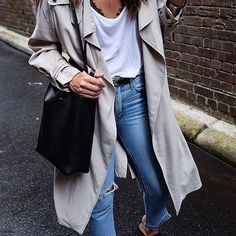 B A S I C S | The best Sunday style! | @sarawears wears our Bessette Jean Loved | Show us your Sunday style #NobodyDenim