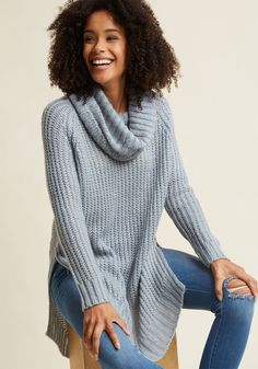 Homecoming 'Round the Mountain Sweater in Frost in 4X - Long Pullover Tunic