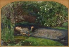 13. John Everett Millais (1829–1896) Title	'Ophelia', Date	between 1851 and 1852 Medium	oil on canvas Dim.	Height: 76 cm (29.9 in). Width: 112 cm (44.1 in). Current location	 Tate Britain. Ophelia has been driven mad by Hamlet's murder of her father, and she drowns herself. To achieve the quality of the water and the background, that he needed, Millais painted outdoors. He was very conscious of the light on the canvas and sat under an umbrella. A model chosen to depict Ophelia was added…
