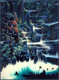 The amazing Eyvind Earle   My all time favorite Disney background artist (1950s)
