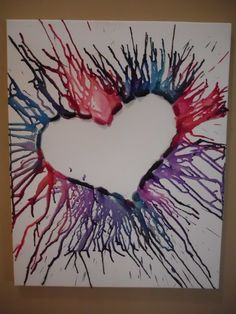 Heart crayon art