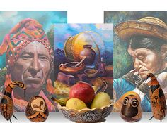 Home decor gifts, Peruvian Art & Crafts - Oil Paintings, Handcrafted Tapestries.
