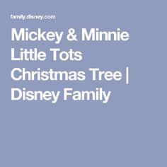 Mickey & Minnie Little Tots Christmas Tree | Disney Family