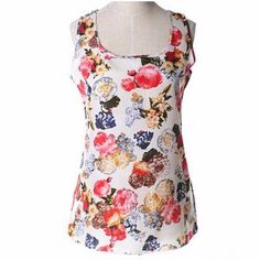 Populraity New Fashion Women Girl camis Casual Chiffon Vest Top tee Tank Sleeveless T Shirt Blouse CC2006