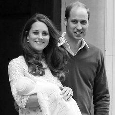 Newborn baby girl Princess Charlotte of Cambridge.