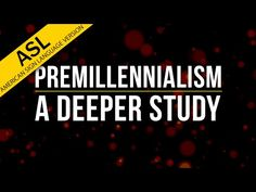 """http://video.wvbs.org/video/premillennialism-a-deeper-study-in-asl/ Does the Bible teach the doctrine of the rapture? Will Christ return to this earth where he will establish his kingdom and reign for a thousand years? What is the """"mark of the beast?"""" Will there soon arise a world ruler known as the Anti-Christ? All of these questions are part of a doctrine known as premillennialism. This lesson answers each of these questions providing appropriate Scripture references."""