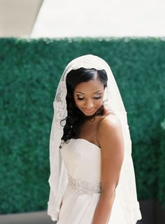 11 Wedding Veil Styles and Lengths to Know Before You Accessorize - Thinking of rocking this iconic wedding accessory? Get to know the difference between blusher, birdcage, cathedral, and other types of veils right here. mantilla wedding veil {Vicki Grafton Photography} Ballroom Wedding, Wedding Veils, Wedding Dresses, Types Of Veils, Blusher, Wedding Accessories, One Shoulder Wedding Dress, Bridal, Photography
