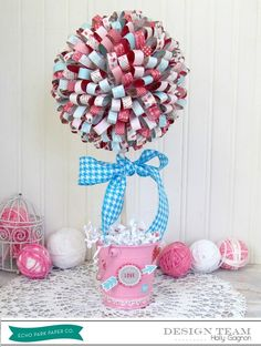 This is adorable! Holly Gagnon Valentines Topiary