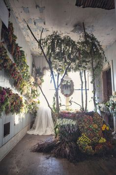 Flower house- Flower installation in Detroit, Michigan