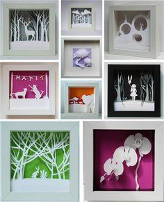 cuadros 3d Cardboard Crafts, Paper Crafts, Diy Crafts, Collage 3d, Marco Diy, 3d Canvas Art, Diy For Kids, Crafts For Kids, 3d Picture Frame