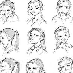 ArtStation - Link Fanart-New Renders, Fabricio Batista Drawing Cartoon Faces, Smile Drawing, Cartoon Art Styles, Cartoon Characters Sketch, How To Draw Characters, Disney Character Sketches, Character Design Disney, Female Face Drawing, Draw Faces