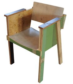 Piet Hein Eek 'Buckseat' arm chair