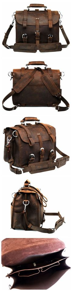 HANDMADE MULTI-USE GENUINE LEATHER TRAVEL BAG, DUFFLE BAG, HOLDALL, BACKPACK