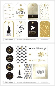 You may want to look into some of these great gift tags....We're going for Marks and Spencer christmas wrap combined with white with little stars and neon orang