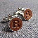 Personalised Leather Cufflinks - cufflinks