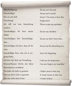 """How to Say """"Sorry"""" in German. Apologies. - learn German,communication,vocabulary,german"""