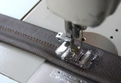 How to sew leather
