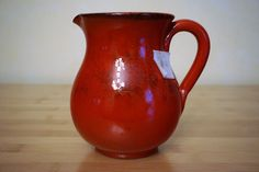 NWT De Silva TERRE D'UMBRIA ~ SMALL RUSTIC RED PITCHER ~ 2 Cups 16 oz #DeSilvaTERREDUMBRIA