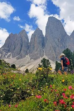 Hiking Adolf Munkel trail - one of the best easy hikes in the Dolomites Hiking Guide, Hiking Trails, Backpacking Tips, Hiking Europe, Italy Travel Tips, Italy Vacation, Italy Trip, Visit Italy, Best Hikes