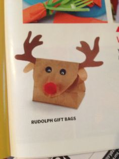 Rudolph favor bags-DYI