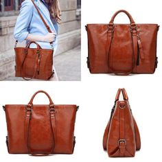 455a63ba2c4ba Women Fashion Shoulder Bag Minimalist Handbag Leisure Business Tote Bag  Brown