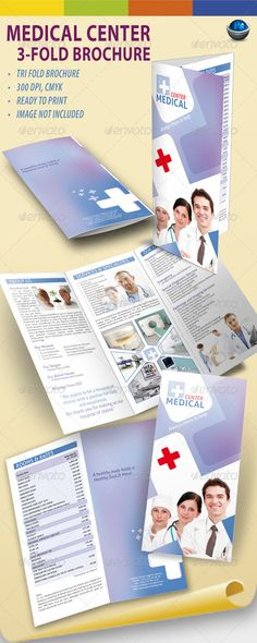 Medical Center Trifold PSD Brochure  Template • Only available here ➝ http://graphicriver.net/item/medical-center-trifold-brochure/711096?ref=pxcr
