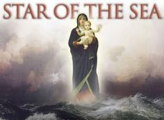 """Stella Maris: The Carmelite Antherm, """"Flos Carmeli"""" (Flower of Carmel), makes specific reference to Our Blessed Mother as Star of the Sea--the small white cloud Elijah observed from Mt. Carmel. Interpreted as a reference to Our Mother's Immaculate Conception."""