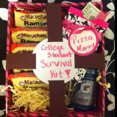 My niece received this super cute high school grad gift!! Great idea!!