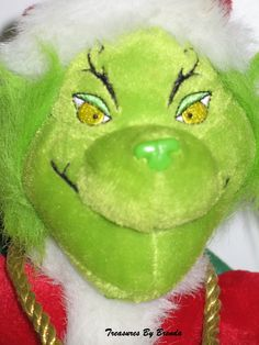 """""""You're a mean one, Mr. Grinch!"""" Love this adorable musical plush Grinch from Dr. Seuss' How The Grinch Stole Christmas. #grinch #drseuss"""