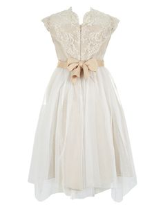 Estella Flower Crochet Dress | Gold | Monsoon