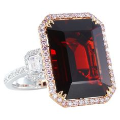 11.33ct Red Burma Spinel & Diamond Ring.