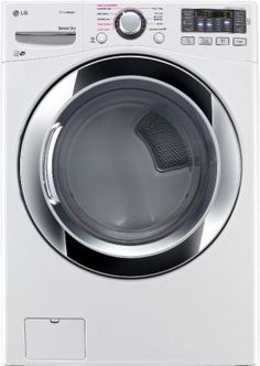 "LG DLGX3371W 27"" Gas Dryer with 7.4 cu. ft. Capacity in White - http://www.majestyappliance.com/lg-dlgx3371w-27-gas-dryer-with-7-4-cu-ft-capacity-in-white/"