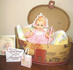 "VINTAGE 1950's MADAME ALEXANDER 8"" LITTLE GENIUS DOLL IN ORIGINAL OUTFIT"