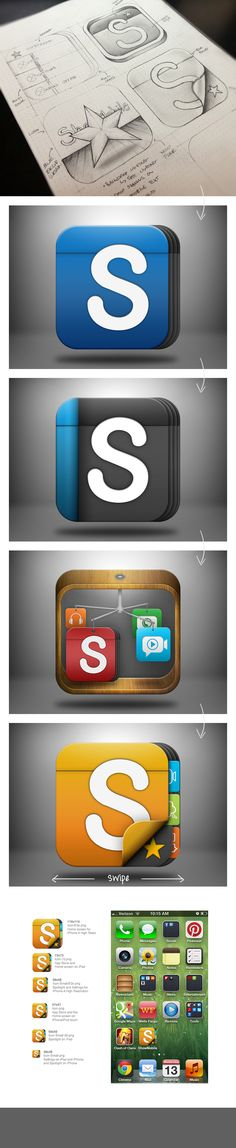 #app #presentation #process #design #mobile #iphone #icon - Justin Graham - http://dribbble.com/justingraham - http://www.behance.net/justingraham
