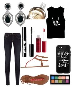 """Untitled #10402"" by ohnadine on Polyvore featuring Ciner, NYX, Casetify, rag & bone, Jessica Simpson, Charlotte Russe and Chanel"