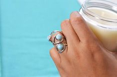 The Larimar Wave Ring symbolizes our life journey full with ups and downs.⠀ ⠀ This ring is your reminder to let go of the things you cannot control and enjoy this beautiful journey💙⠀ Larimar Jewelry, Wave Ring, Gemstone Rings, Silver Rings, Journey, Life, Beautiful, The Journey